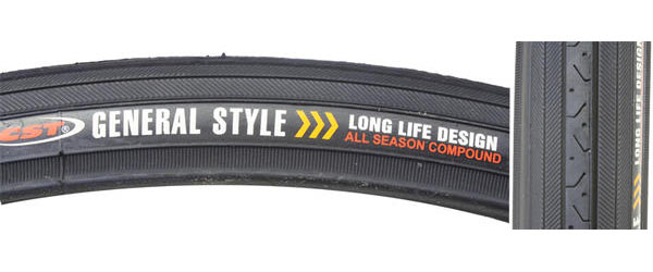 Sunlite Road Raised Center CST638 Tire (27-inch) Color: Black/Black