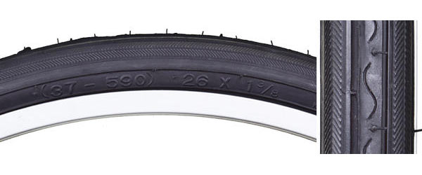 Sunlite Road Raised Center Tire (Schwinn 26-inch) Color: Black/Black