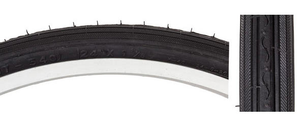 Sunlite Road Tire (24-inch) Color: Black/Black