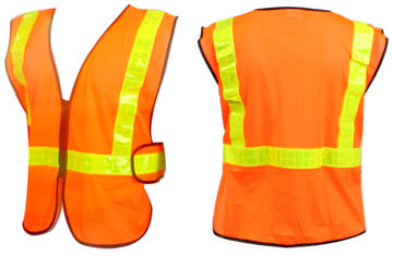 Sunlite Safety Vest (ANSI) Color: Orange/Reflective Yellow