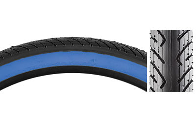 Sunlite Slick Tire - 26-inch Color: Black/Blue