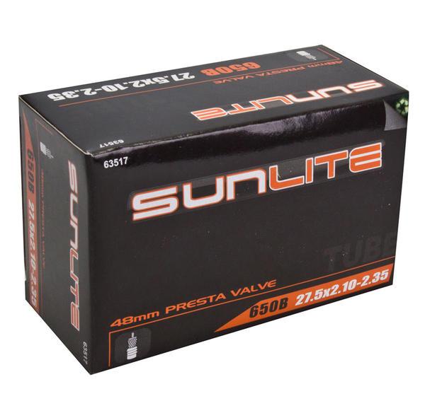 Sunlite Standard Presta Valve (48mm) Tube 27.5 x 2.1-2.35 (650B)