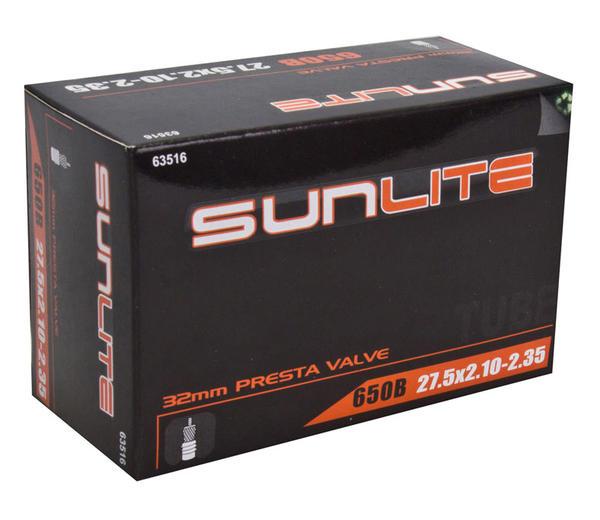 Sunlite Standard Presta Valve (32mm) Tube 27.5 x 2.1-2.35 (650B)