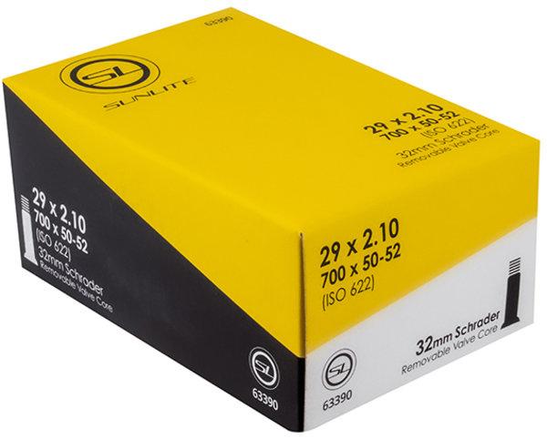 Sunlite Standard Schrader Valve Tube 29 x 2.1 (700 x 50-52)