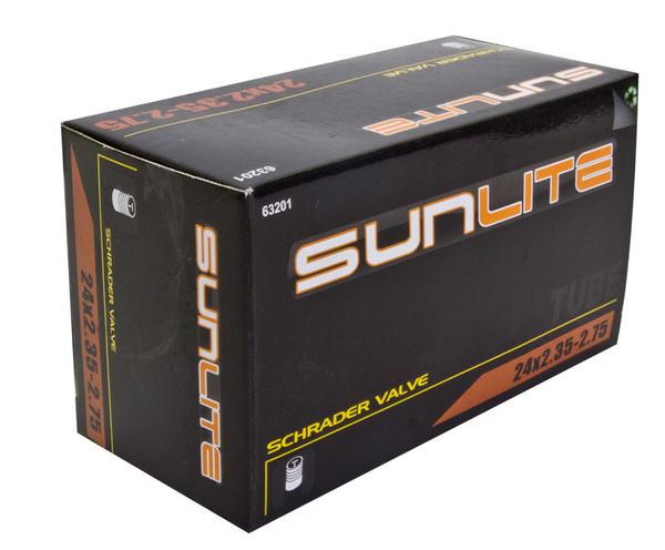 Sunlite Standard Schrader Valve Tube 24 x 2.35-2.75