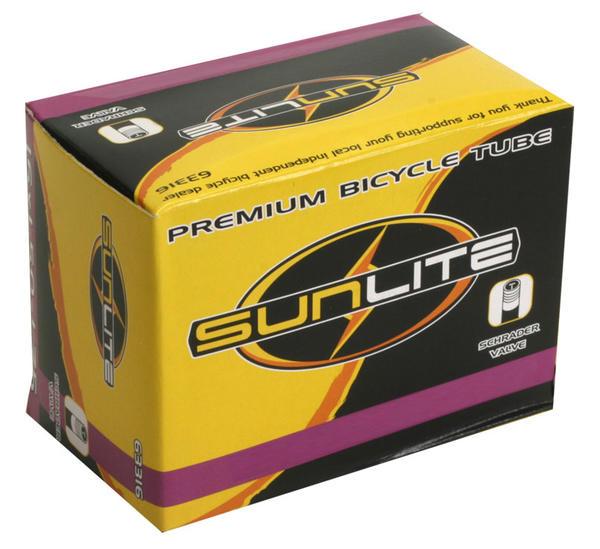 Sunlite Standard Schrader Valve Tube 16 x 1.5-1.95