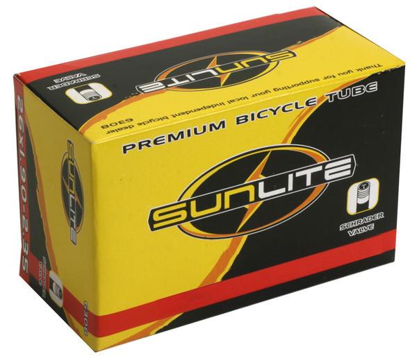 Sunlite Standard Schrader Valve Tube 26 x 1.5-1.75