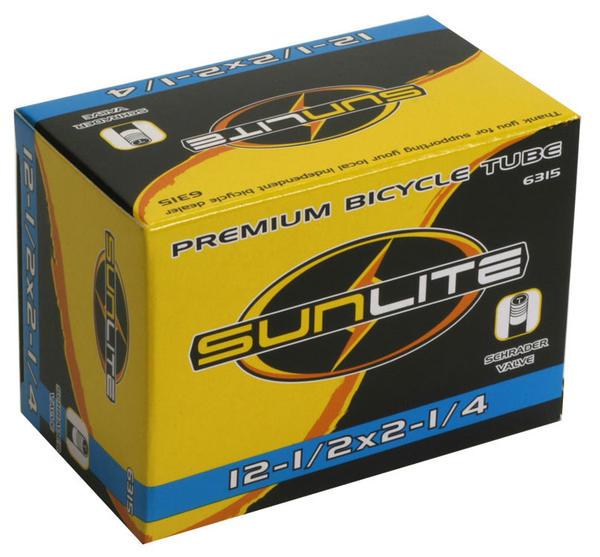 Sunlite Standard Schrader Valve Tube 12 1/2 x 2 1/4