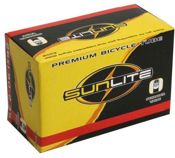Sunlite Standard Schrader Valve Tube 26 x 1.9-2.35