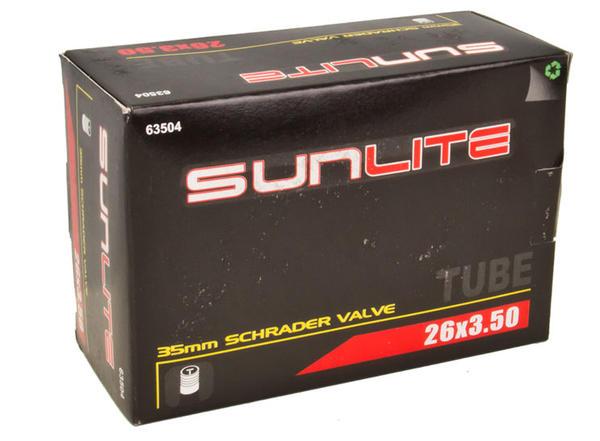 Sunlite Standard Schrader Valve Tube 26 x 3.5