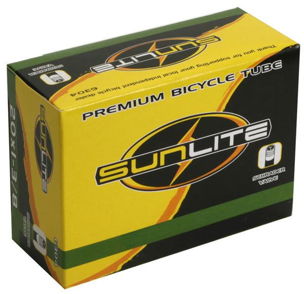 Sunlite Standard Schrader Valve Tube 20 x 1 1/8