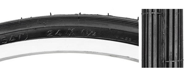 Sunlite Street S-5/6 Tire (24-inch) Color: Black/Black