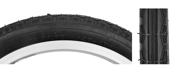 Sunlite Street Tire (16-inch) Color: Black/Black