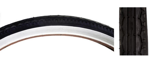 Sunlite Street Tire (26-inch) Color | Size: Black/White | 26 x 1.75