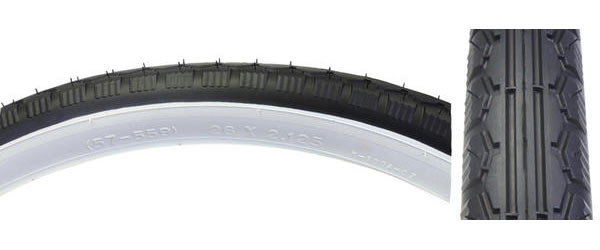Sunlite Street Tire (26-inch) Color | Size: Black/White | 26 x 2.125