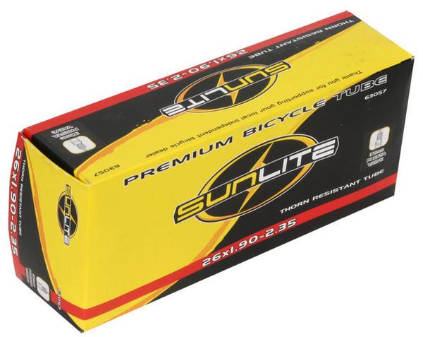 Sunlite Thorn-Resistant Presta Valve Tube 26 x 1.9-2.35