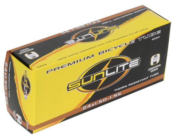 Sunlite Thorn-Resistant Schrader Valve Tube 24 x 1.5-1.95