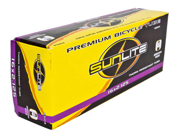 Sunlite Thorn-Resistant Schrader Valve Tube 16 x 2.125