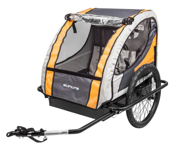 Sunlite Hard Shell Deluxe Trailer Tot Color: Black/Yellow