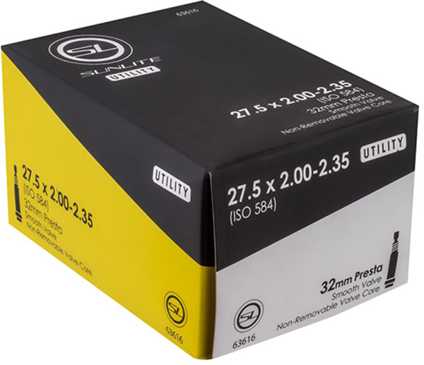 Sunlite Utili-T Standard Presta Valve Tube 27.5 x 2.0-2.35