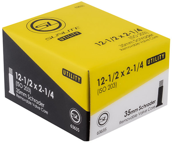 Sunlite Utili-T Standard Schrader Valve Tube 12-1/2 x 2-1/4