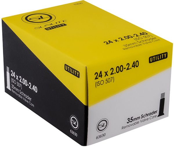 Sunlite Utili-T Standard Schrader Valve Tube 24 x 2.0-2.4