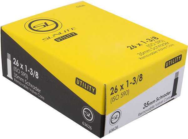 Sunlite Utili-T Standard Schrader Valve Tube 26 x 1 3/8