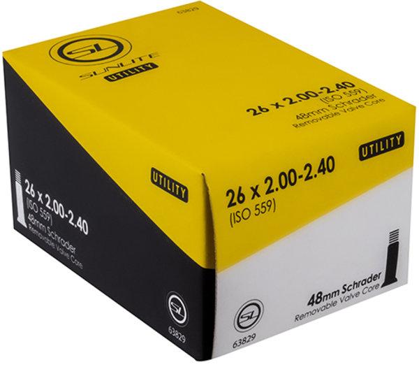 Sunlite Utili-T Standard Schrader Valve Tube 26 x 2.0-2.4