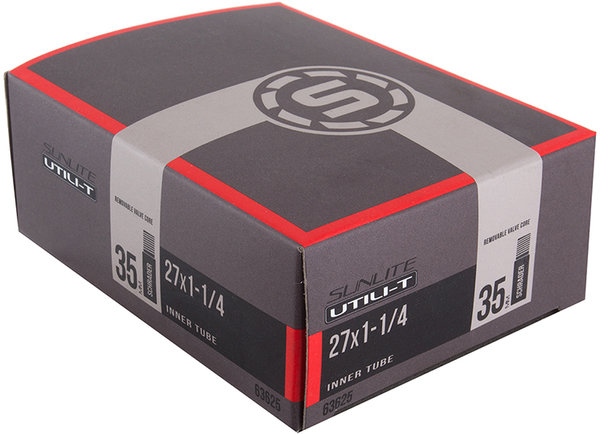 Sunlite Utili-T Standard Schrader Valve Tube 27 x 1-1/4