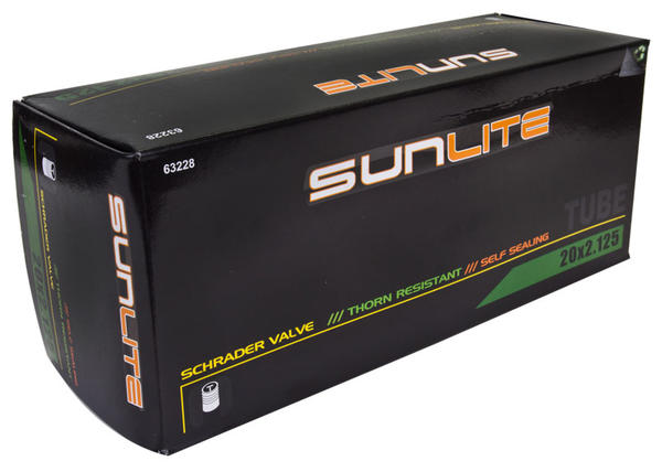 Sunlite Thorn-Resistant Self-Sealing Schrader Valve Tube 20 x 2.125