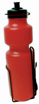 Sunlite Water Bottle with Cage Color: Red