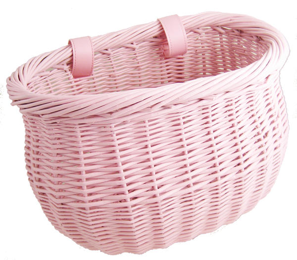 Sunlite Willow Bushel Strap-On Basket Color: Pink