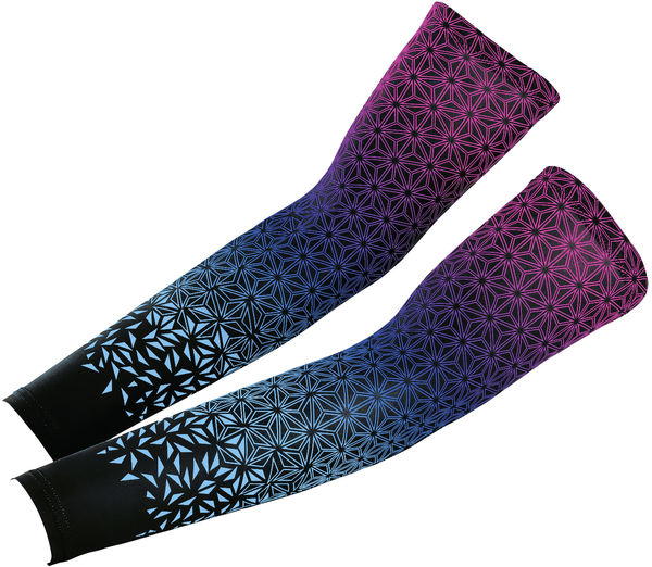 Supacaz Star Fade Arm Sleeves Color: Neon Pink/Neon Blue