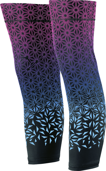 Supacaz Star Fade Knee Sleeves Color: Neon Pink/Neon Blue