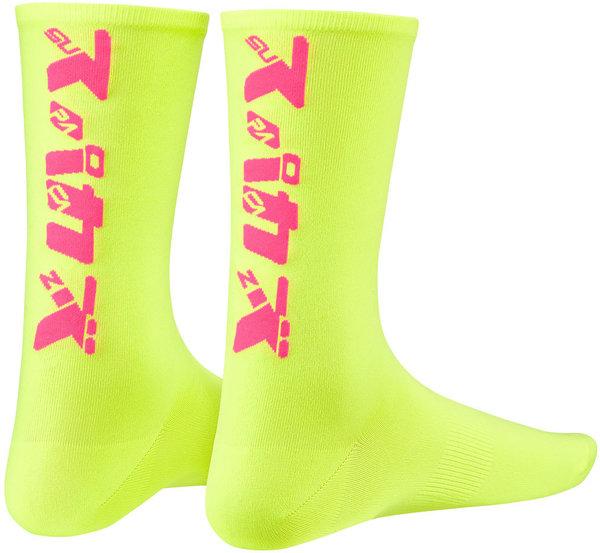 Supacaz Socks Katakana Celeste Fluorescent Pink