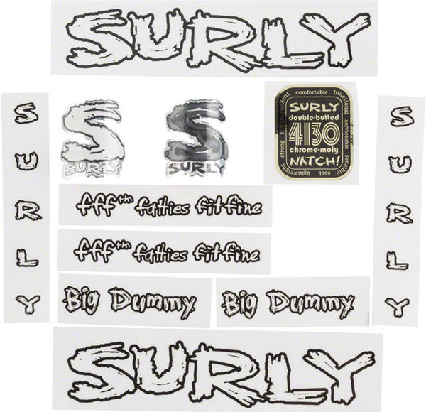 Surly Big Dummy Decal Set Color: Transparent