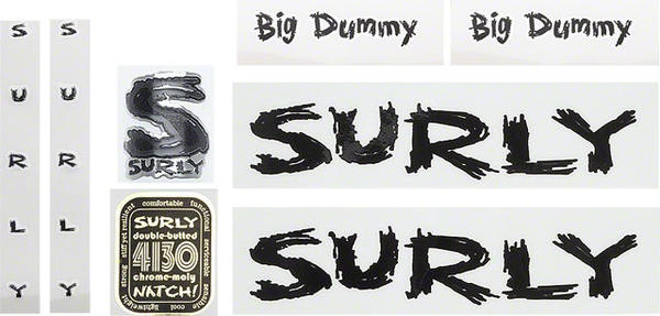 Surly Big Dummy Frame Decal Set Color: Black