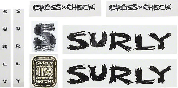 Surly Cross Check Frame Decal Set
