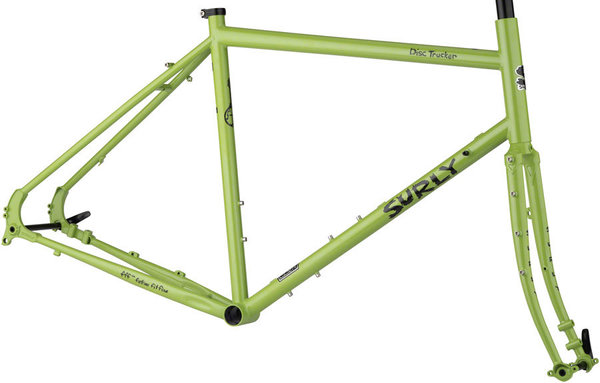Surly Disc Trucker 26-inch Frameset Color: Pea Lime Soup