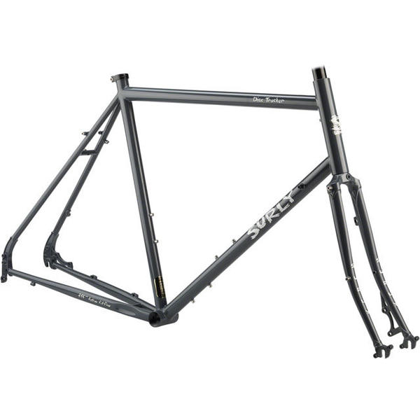 Surly Disc Trucker Frameset Color: Bituminous Gray