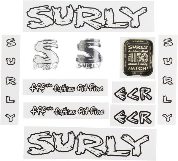 Surly ECR Decal Set Color: Transparent