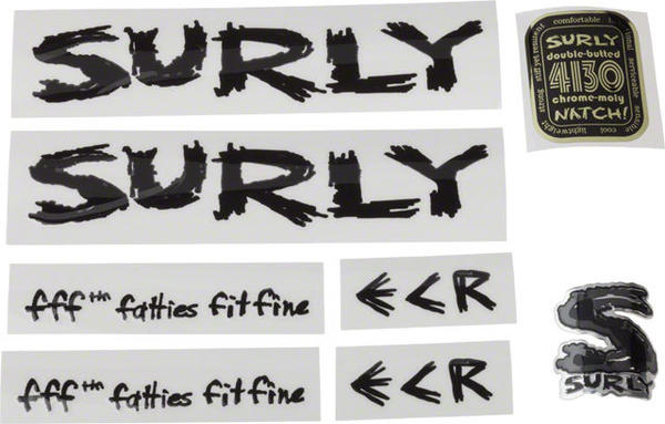 Surly ECR Frame Decal Set Color: Black