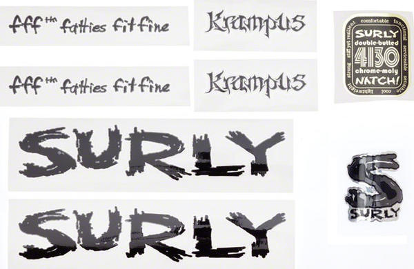 Surly Krampus Frame Decal Set