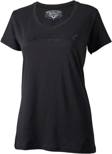 Surly Logo T-Shirt - Women's Color: Black w/Black Text