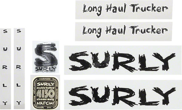 Surly Long Haul Trucker Decal Set Color: Black