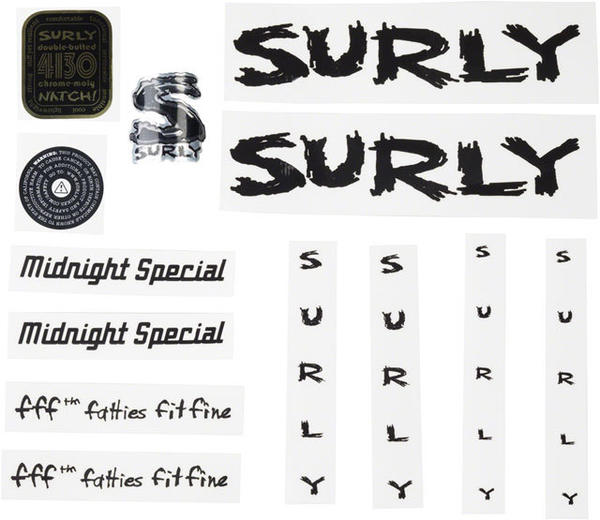 Surly Midnight Special Decal Set Color: Black