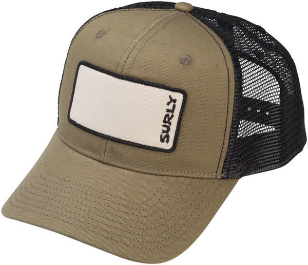 Surly Name Patch Trucker Hat Color: Olive Green