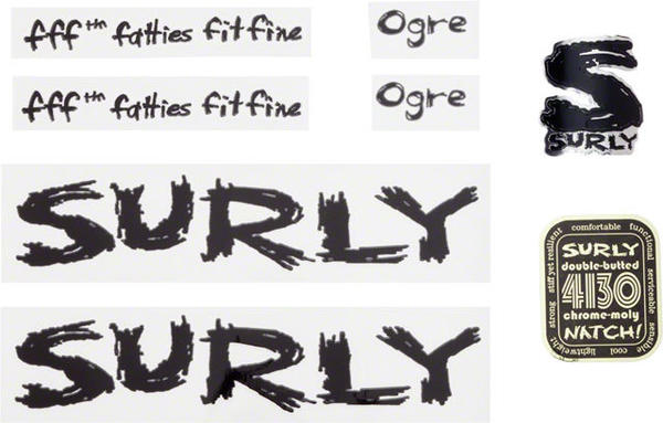 Surly Ogre Decal Set Color: Black