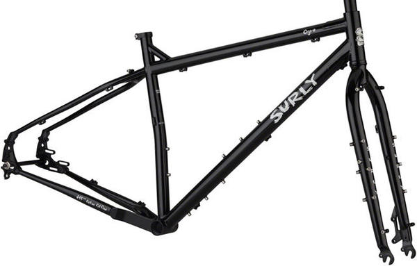 Surly Ogre Disc Only Frameset Color: Blacktacular