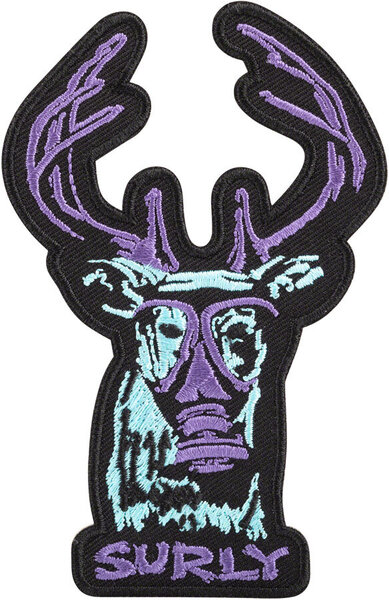 Surly Oh Deer Patch Color: Black/Blue/Purple
